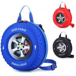 Cartable Sacoche maternelle roue de voiture 3D – 3 coloris