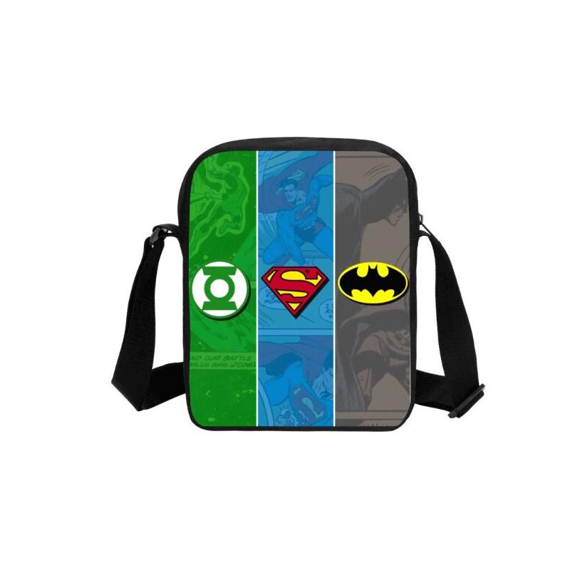 Sacoche pochette Batman héros mix Superman bandoulière imprimée 3D
