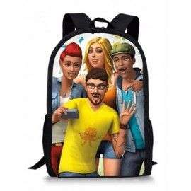 THE SIMS cartable sac à dos imprimé