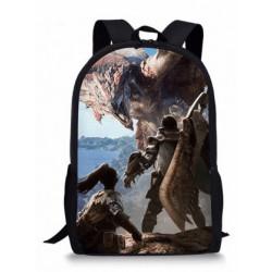 MONSTER HUNTER cartable sac à dos imprimé
