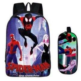 Pack cartable+Trousse imprimé SPIDERMAN