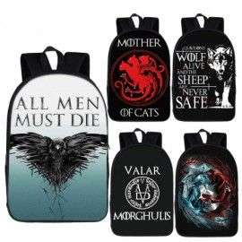 GAME OF THRONES cartable ados sac à dos imprimé série Tv