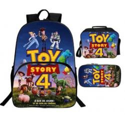 Pack Cartable + pochette à crayons + Lunch bag TOY STORY imprimé 3D