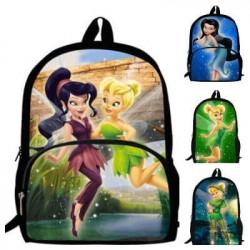 Cartable sac à dos fée clochette imprimé 3D Dessin animé Peter Pan format école primaire
