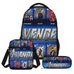 Pack imprimé Cartable sac à dos The Avengers + Sacoche + Trousse