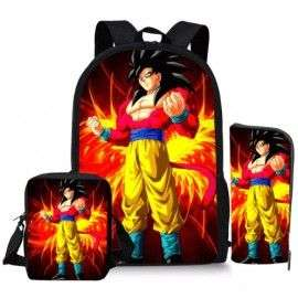 Pack imprimé Cartable sac à dos Dragon Ball + Sacoche + Trousse