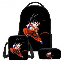 Pack imprimé Cartable sac à dos Dragon Ball + Sacoche + Trousse