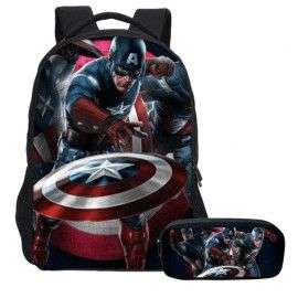 Pack imprimé Cartable sac à dos The Avengers + Sacoche + Trousse