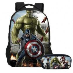 Pack imprimé Cartable sac à dos The Avengers + Trousse