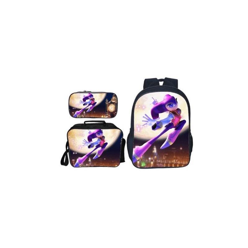Pack imprimé Cartable sac à dos Sonic + Lunch Bag + Trousse