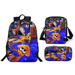 Pack imprimé Cartable sac à dos Splatoon + Sacoche + Trousse