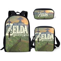 Pack imprimé Cartable sac à dos la légende de Zelda + Sacoche + Trousse