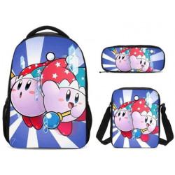 Pack imprimé Cartable sac à dos Kirby + Sacoche + Trousse