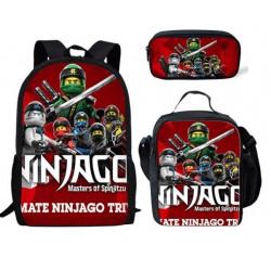 Pack imprimé Cartable sac à dos NINJAGO + Sacoche + Trousse