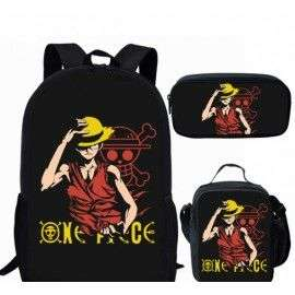 Pack imprimé Cartable sac à dos ONE PIECE + Sacoche + Trousse assortis