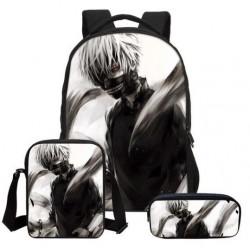 Pack imprimé Cartable sac à dos TOKYO GHOUL + Sacoche + Trousse