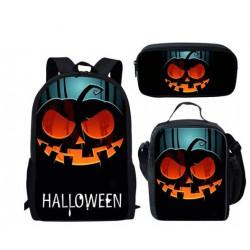 Pack Cartable sac à dos HalloWeen + Sacoche + Trousse imprimés 3D