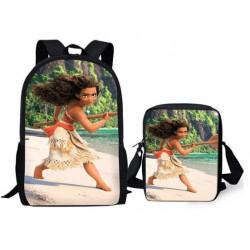 Pack VAIANA Cartable sac à dos + Sacoche MOANA assortie