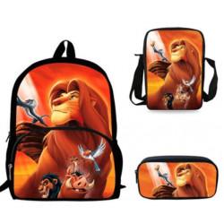Pack Cartable sac à dos le roi lion + Sacoche + Trousse assortis