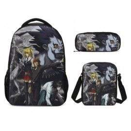 Pack imprimé Cartable sac à dos DEATH NOTE+ Sacoche + Trousse assortis