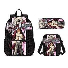 Pack Grand cartable sac à dos DEATH NOTE+ Sacoche + Trousse assortis