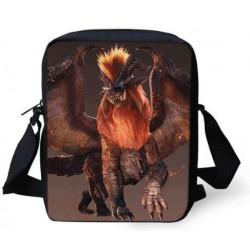 Sacoche Monster Hunter imprimée avec bandoulière