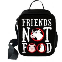 """Sac à repas """"Friend not food"""" Spécial Vegan imprimé 3D"""
