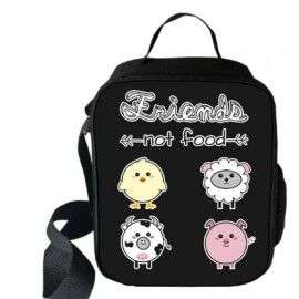 "Sac à repas ""Friend not food"" Secial Vegan imprimé 3D"