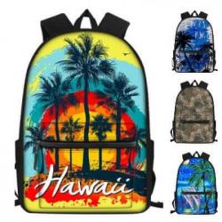 """Cartable """"Hawaii"""" avec pochette avant pour élèves et étudiants"""