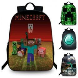 MINECRAFT school bags backpack kids and teens