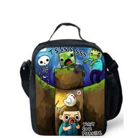 Minecraft lunch bag for elementary school and over