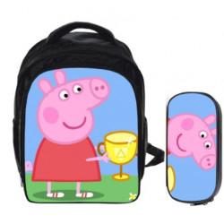 PEPPAA PIG 2 pieces gaming kindergarten pack backpack + pencil cas