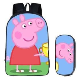 PEPPA PIG 2 pieces pack backpack + pencil case for elementary school