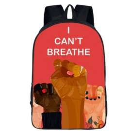 Not to racism  backpack for teenagers and young adults