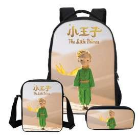 The little prince 4 pieces school pack backpack + Lunch bag + Crossbody messenger bag + pencil case
