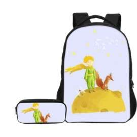 The little prince pieces school pack backpack + pencil case