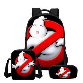Ghostbusters 4 pieces school pack backpack + Lunch bag + Crossbody messenger bag + pencil case