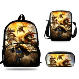 The walking dead 4 pieces school pack backpack + Lunch bag + Crossbody messenger bag + pencil case