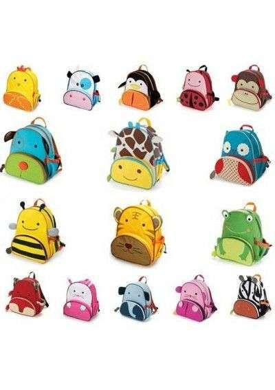 Cartable sac à dos ANIMAUX ZOO 3D CARTOONS enfants maternelle fashion